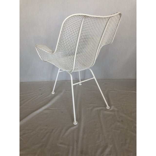 1960s Vintage White Sculptura Russell Woodard Patio Chairs- A Pair For Sale - Image 10 of 13