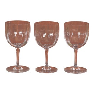Late 20th Century Vintage Baccarat Water Goblets- Set of 3 For Sale