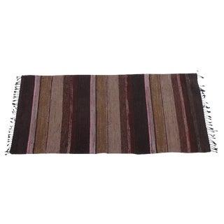 Swedish Hand-Woven Rag Rug - 2′10″ × 6′5″ For Sale