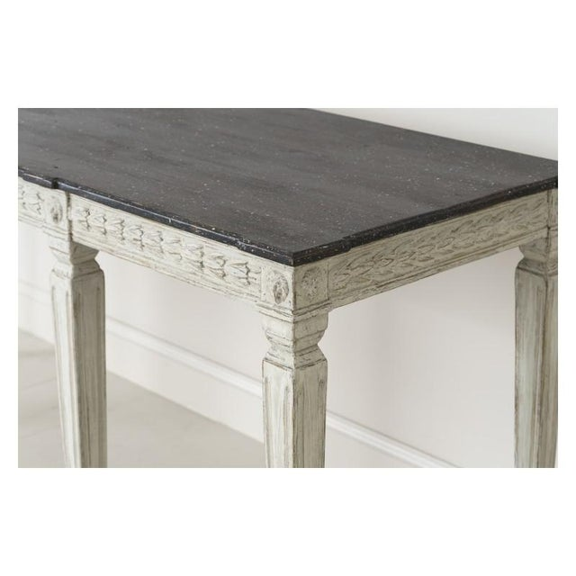 ca15fbd855028 Mid 19th Century 19th Century Swedish Late Gustavian Console Table With Hand  Painted Porphyry Top For