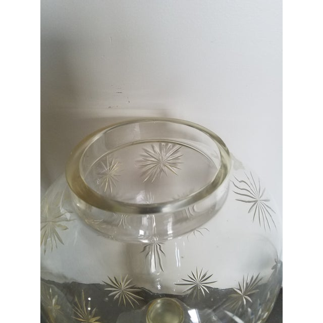"""Pair 30"""" Tall Cut Crystal Glass Lidded Apothecary Jars For Sale - Image 9 of 11"""