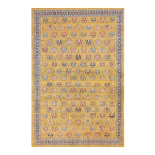 """Mansour Authentic Persian Gabbeh Rug - 8' X 9'4"""" For Sale"""