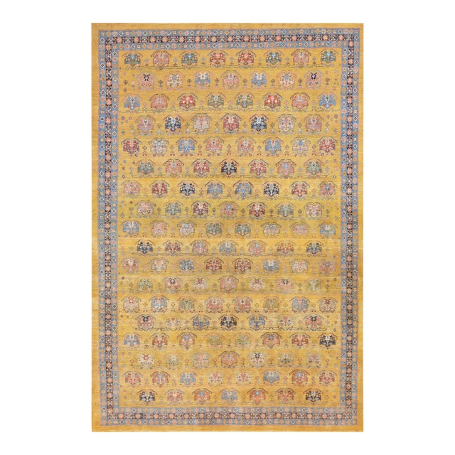 "Mansour Authentic Persian Gabbeh Rug - 8' X 9'4"" For Sale"