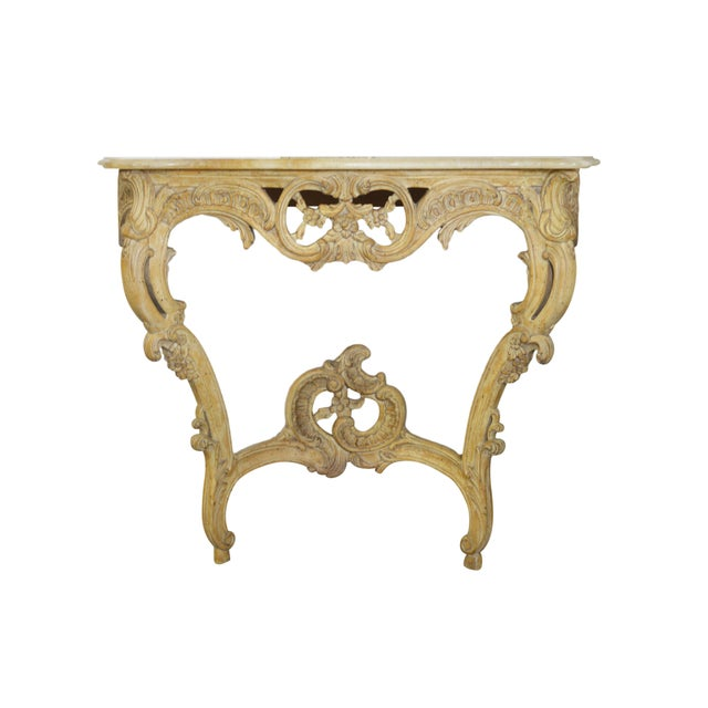 Vintage Onyx-Top French-Style Console Table - Image 1 of 6