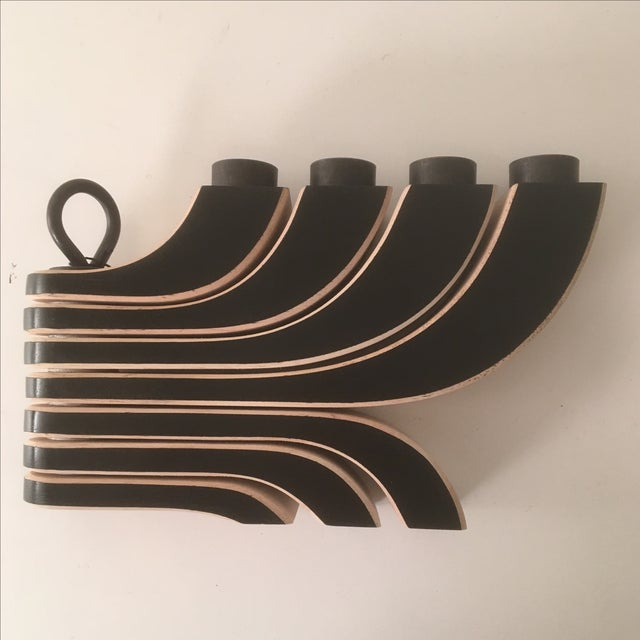 Design House Stockholm 4-Arm Black Candleholder - Image 3 of 5
