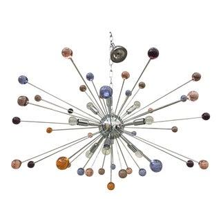 Murano Glass Triedo Sputnik Multicolors Chandelier For Sale