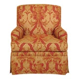 Image of Kindel Fully Upholstered Skirted Club Chair For Sale