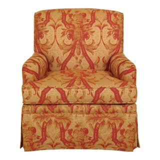 Kindel Fully Upholstered Skirted Club Chair For Sale