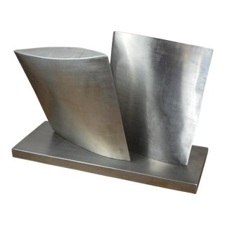 Modernist Stainless Steel Sculpture by Gene Horvath For Sale