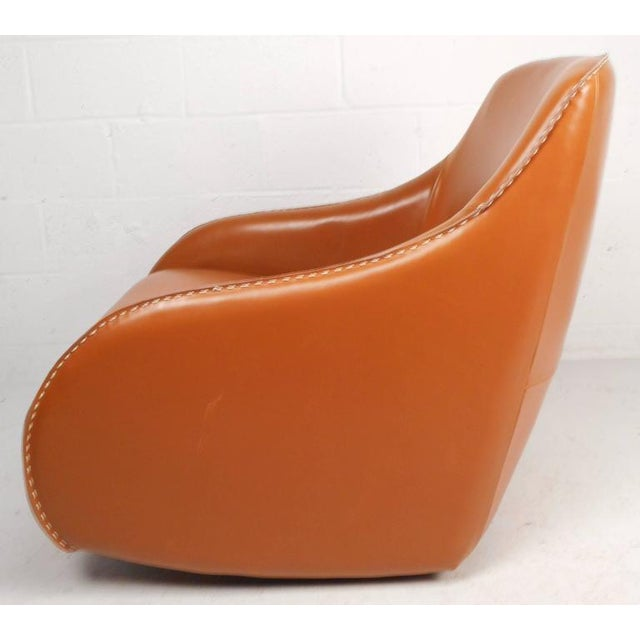 Contemporary Modern Leather Rocking Chair - Image 3 of 8