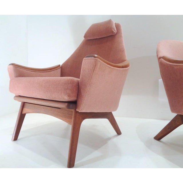 """Fabulous pair of early 1960's """"His & Hers"""" lounge chairs designed by Adrian Pearsall for Craft Associates. This matching..."""