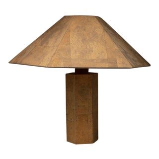 """Zanotl"" Cork Table Lamp by Zanoth and Maurer for Maurer Design For Sale"