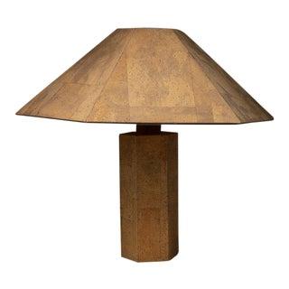 """Zanotl"" Cork Table Lamp by Zanoth and Maurer for Maurer Design For Sale"