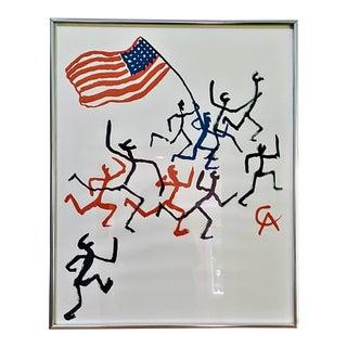 "Alexander Calder ""Madison Square Boys Club"" Framed Lithograph Print For Sale"