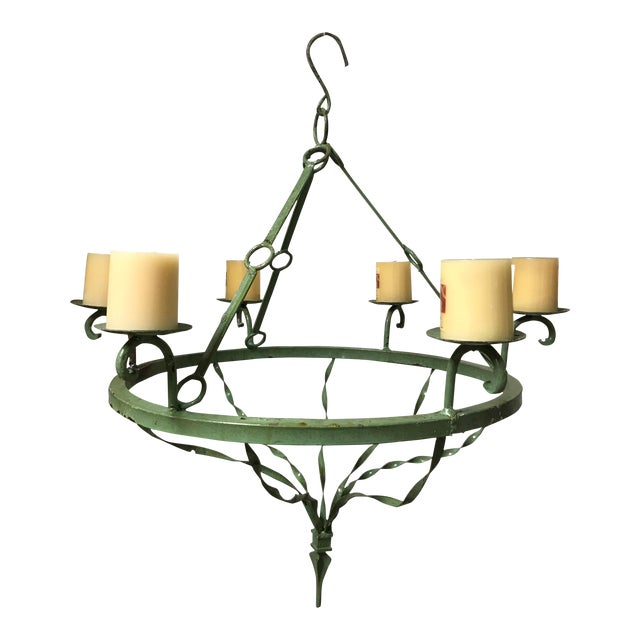 Handing Iron Candle Chandelier For Sale