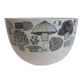 Vintage Kaj Franck Finel Arabia Mushroom Enamelware Bowl For Sale