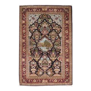 "Pasargad Kashan Hand-Knotted Rug - 3'4"" X 5'2"" For Sale"
