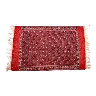 """Vintage Afghan Wool Rug 6'1"""" x 10' For Sale"""