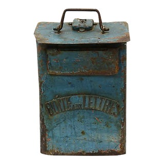 Antique French Letter Box For Sale
