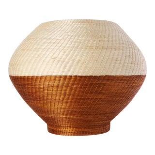 Large Halo Vase Cream/ochre For Sale