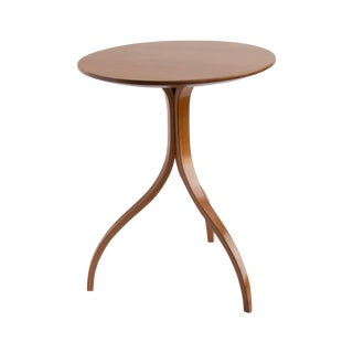 Spider Leg Walnut Side Table For Sale