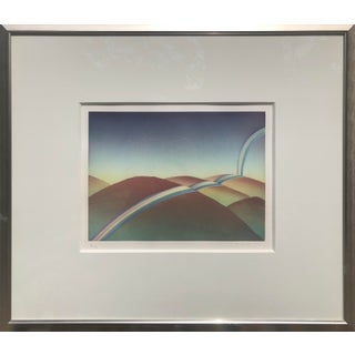 "Original, Hand-Signed, ""Over the Rainbow"" Aquatint Art Etching by Jean-Michel Folon For Sale"