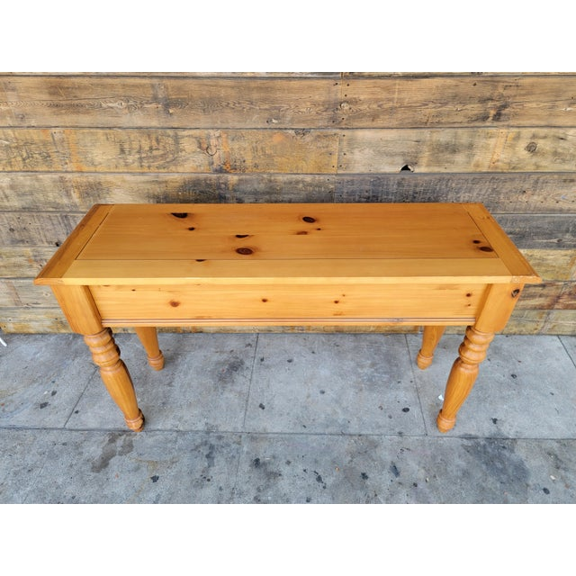 Wood 1980s Rustic Console Table with Drawers For Sale - Image 7 of 13