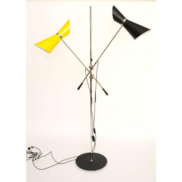 Double Articulating Arm Cone Floor Lamp - Image 2 of 8