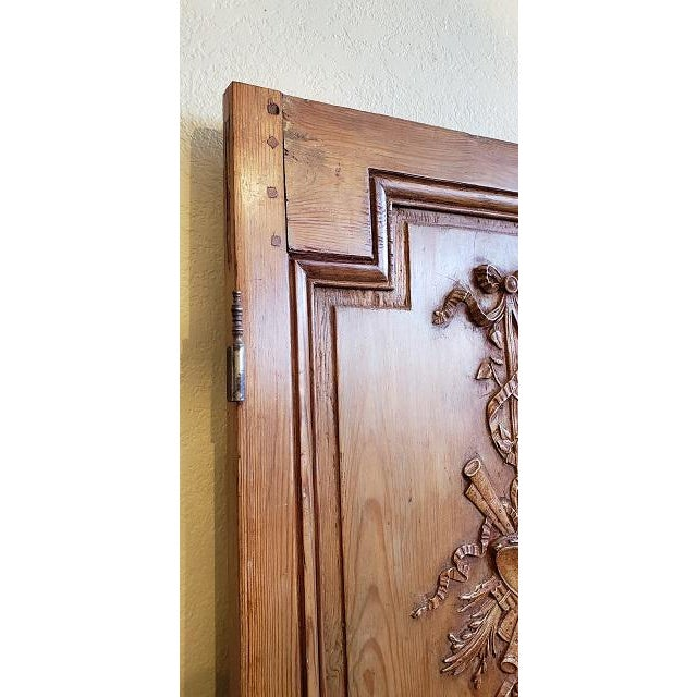 Pine Mid 19th Century French Pine Carved Door Panels C.1870 For Sale - Image 7 of 11