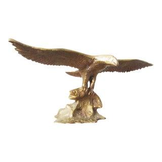 Vintage Brass Eagle Figurine For Sale