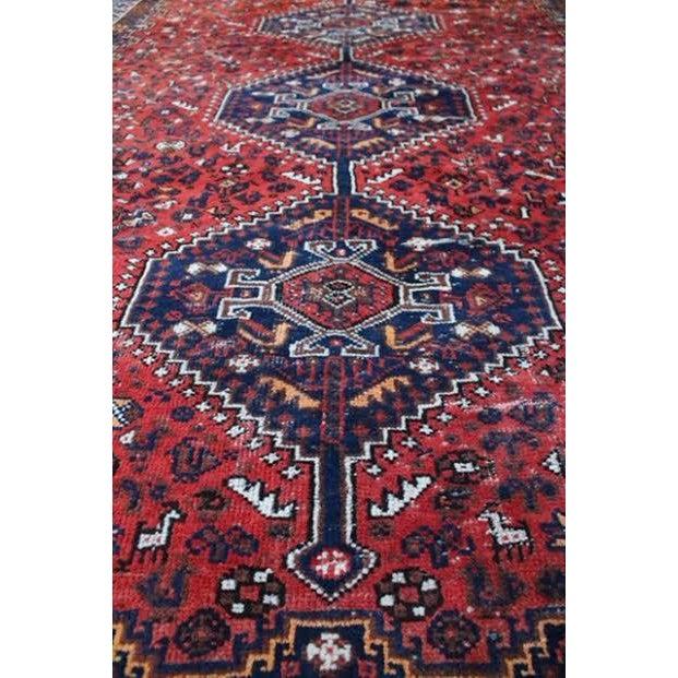 "Vintage Persian Shiraz Rug - 6' X 9'2"" - Image 6 of 9"