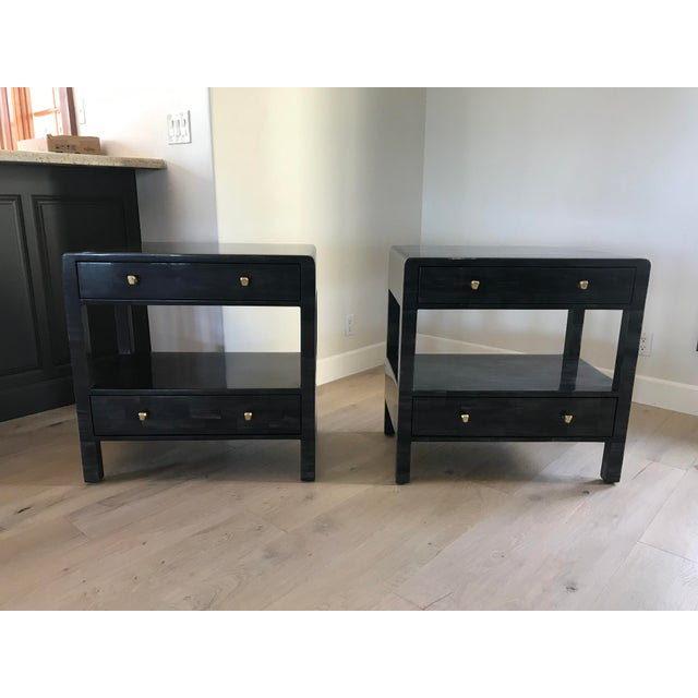 Yaren Double Faux Horn Nightstands-A Pair For Sale - Image 13 of 13
