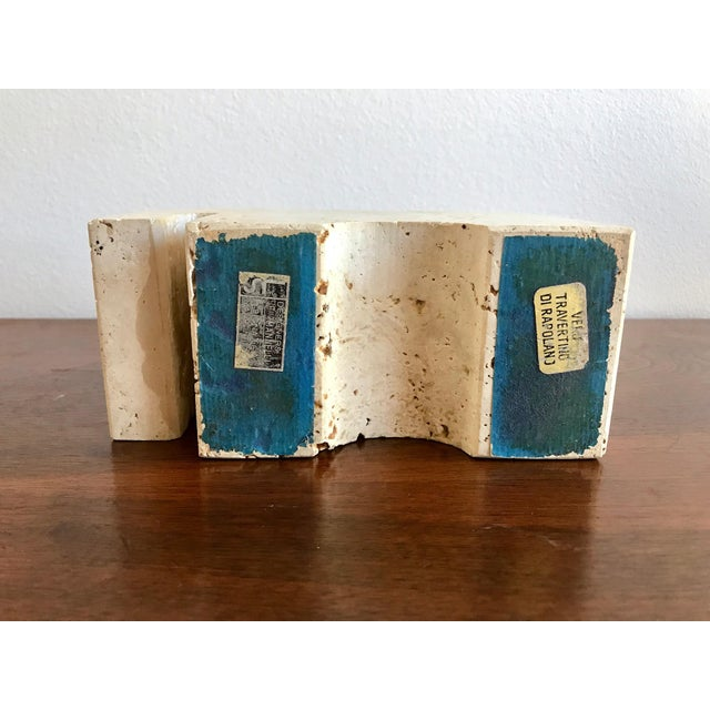 Fratelli Mannelli Travertine Elephant Bookend For Sale - Image 10 of 11