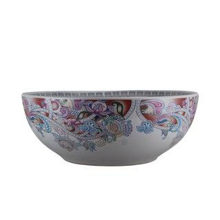 Pasargad DC Modern White Motif Sink Bowl For Sale