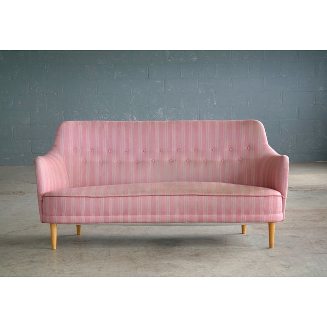 Scandinavian Carl Malmsten Sofa Model Samsas for O.H. Sjogren, Midcentury - Image 2 of 10