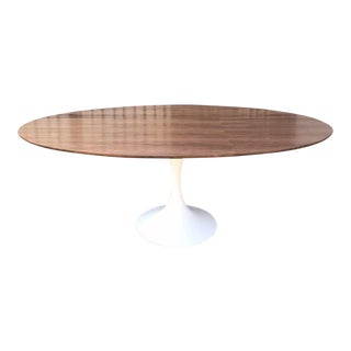 Handcrafted Walnut Tulip Dining Table For Sale