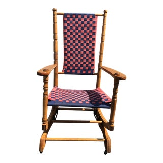 Antique Lg Fullam Sons Vermont Maple Rocking Chair For Sale