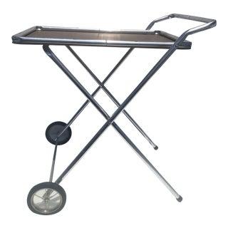 1950s Aluminum Folding Bar Cart For Sale