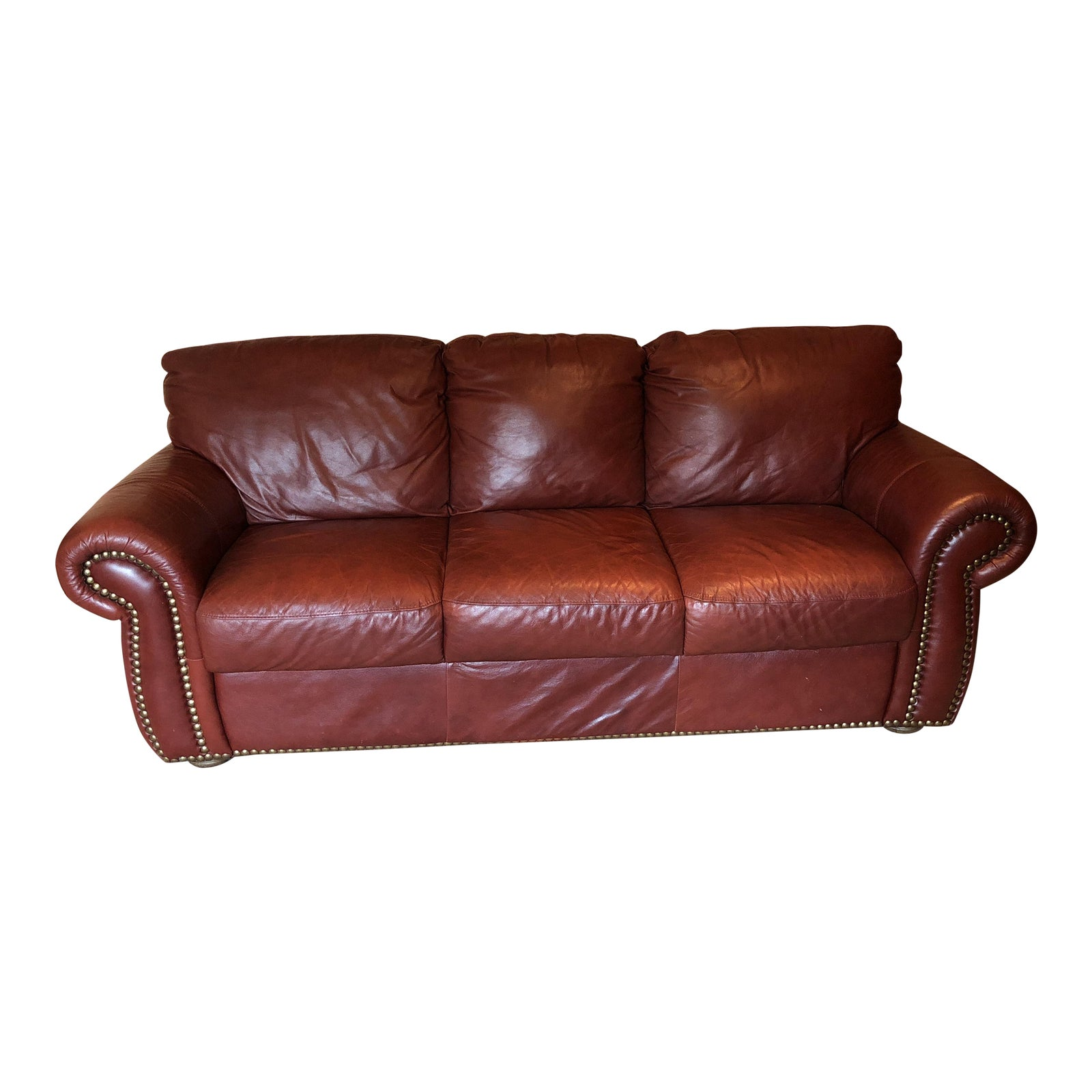 Divani Chateau D Ax.Chateau D Ax Divani Italian Red Leather Sofa Chairish