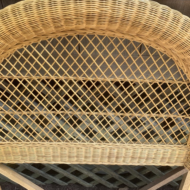 Vintage Wicker Headboards- a Pair For Sale - Image 11 of 13