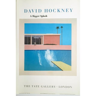 David Hockney, a Bigger Splash, the Tate Gallery, London, Original Museum Period Exhibition Lithographic Poster For Sale