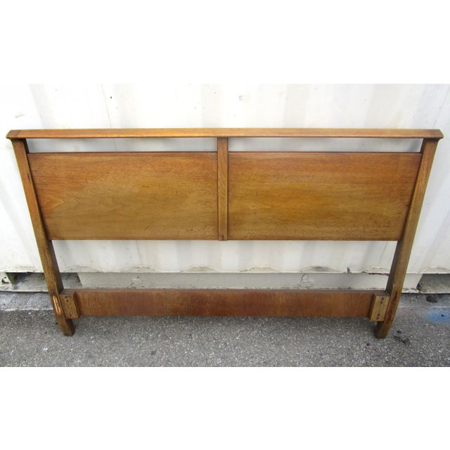 Vintage Wooden Headboard & Footboard, Full Size - Image 3 of 7