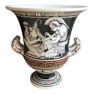 Vintage Calyx Crater Grecian Vase For Sale