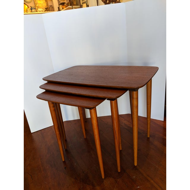 Vintage Mid-Century Nesting Tables - Set of 3 For Sale - Image 9 of 9