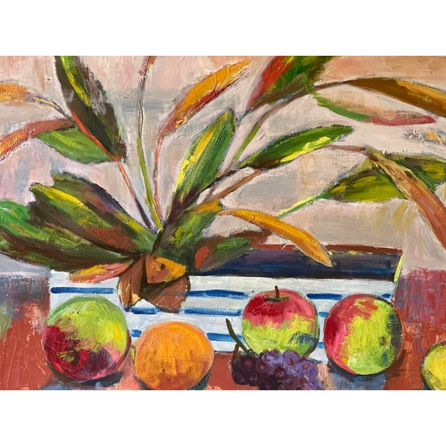 Midcentury Botanical Still Life Painting For Sale - Image 10 of 12