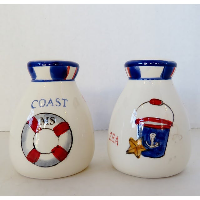 Nautical Nautical Salt & Pepper Shakers, a Pair For Sale - Image 3 of 5