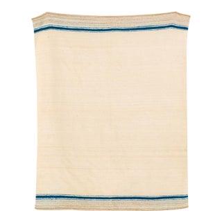 Vintage Moroccan Handmade Wool Kilim Floor Rug or Blanket - 5'10'' X 7'4'' For Sale