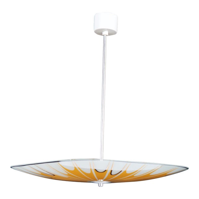Top Superb Yellow Mid Century Ceiling Light with Spray Pattern, 1950s  RS18