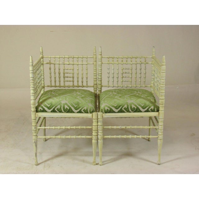 19th Century Corner Chairs - a Pair For Sale - Image 11 of 11