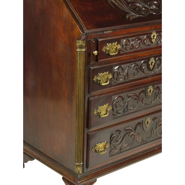 Metal 19th-C. Irish Georgian-Style Secretary Desk For Sale - Image 7 of 12